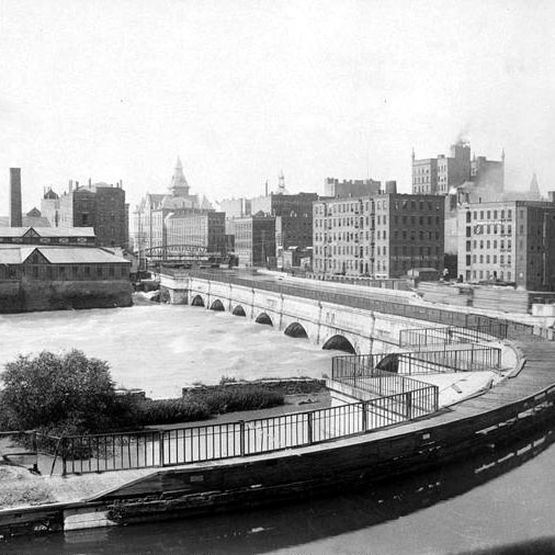 Old photograph of Erie Canal